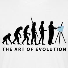 White evolution_artist_b_2c Men's T-Shirts