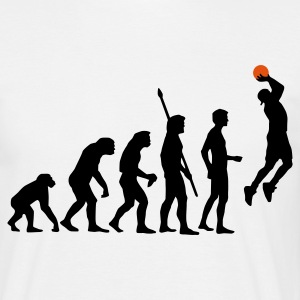 White evolution_basketball_b_2c Men's T-Shirts - Men's T-Shirt