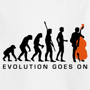 White evolution_bass_2c_b Kids' Shirts - Teenage T-shirt