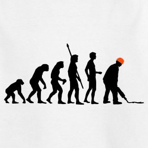White evolution_bauarbeiter_2c Kids' Shirts - Teenage T-shirt