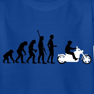 Royal blue evolution_biker_2c Kids' Shirts - Teenage T-shirt