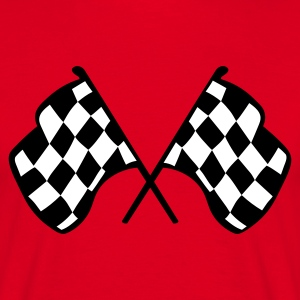 Red Chequered Racing Flags Men's T-Shirts - Men's T-Shirt