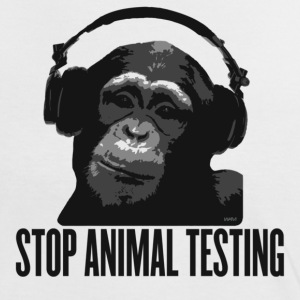 Weiß/schwarz DJ MONKEY stop animal testing by wam T-Shirts - Frauen Kontrast-T-Shirt