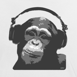 White/black DJ MONKEY by wam Women's T-Shirts - Women's Ringer T-Shirt