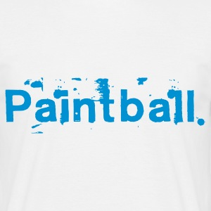 White paintball_font1 Men's T-Shirts - Men's T-Shirt