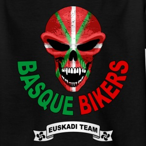 Noir basque biker T-shirts Enfants - T-shirt Ado