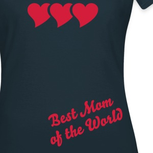 HERZ Terzett + Best Mom of the World | Frauen-Basic-Shirt - Frauen T-Shirt