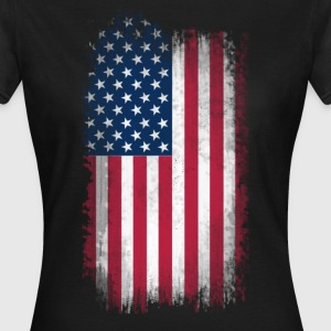 Eroded USA Flag T-Shirts - Women's T-Shirt