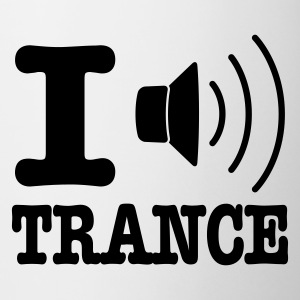White I speaker trance / I love trance Mugs  - Mug