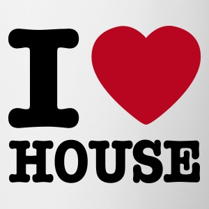 White I love house / I heart house Mugs  - Mug