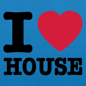 Peacock-blue I love house / I heart house Bags  - EarthPositive Tote Bag