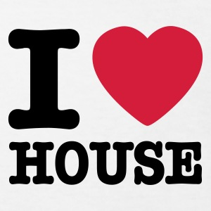 Wit I love house / I heart house Kinder shirts - Kinderen Bio-T-shirt