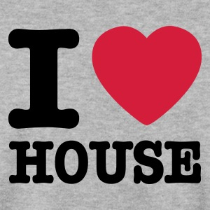 Gris chiné I love house / I heart house Sweatshirts - Sweat-shirt Homme
