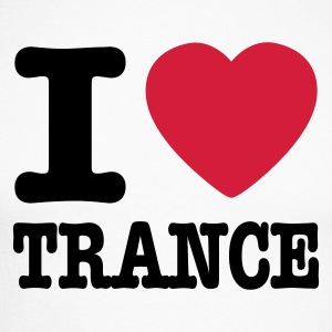 Blanc/noir I love trance / I heart trance T-shirts manches longues - T-shirt baseball manches longues Homme
