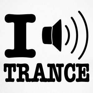 Blanc/noir I speaker trance / I love trance T-shirts manches longues - T-shirt baseball manches longues Homme