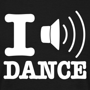 Zwart I speaker dance / I love dance T-shirts - Mannen T-shirt