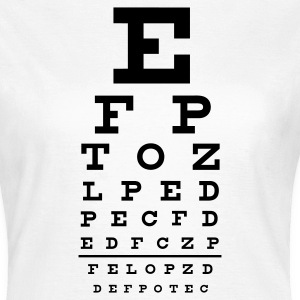 eye chart T-Shirts - Women's T-Shirt