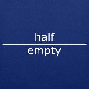 half empty (for mugs and bags)  - Stoffbeutel