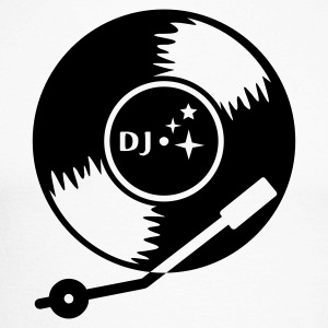 White/black DJ vinyl LP (1c) Long sleeve shirts - Men's Long Sleeve Baseball T-Shirt