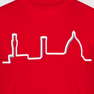 Skyline Firenze t-shirt red - Maglietta da uomo