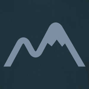 Navy Mountain Logo Men's T-Shirts - Men's T-Shirt