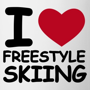 Weiß I Love Freestyle Skiing Tassen - Tasse