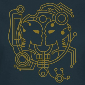 Marine Cyber amour Skull T-shirts - T-shirt Femme