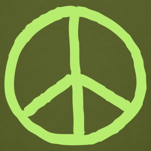 green Peace mark  - Mannen Bio-T-shirt