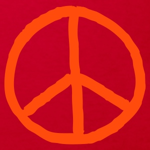 Orange peace mark - Kinder Bio-T-Shirt