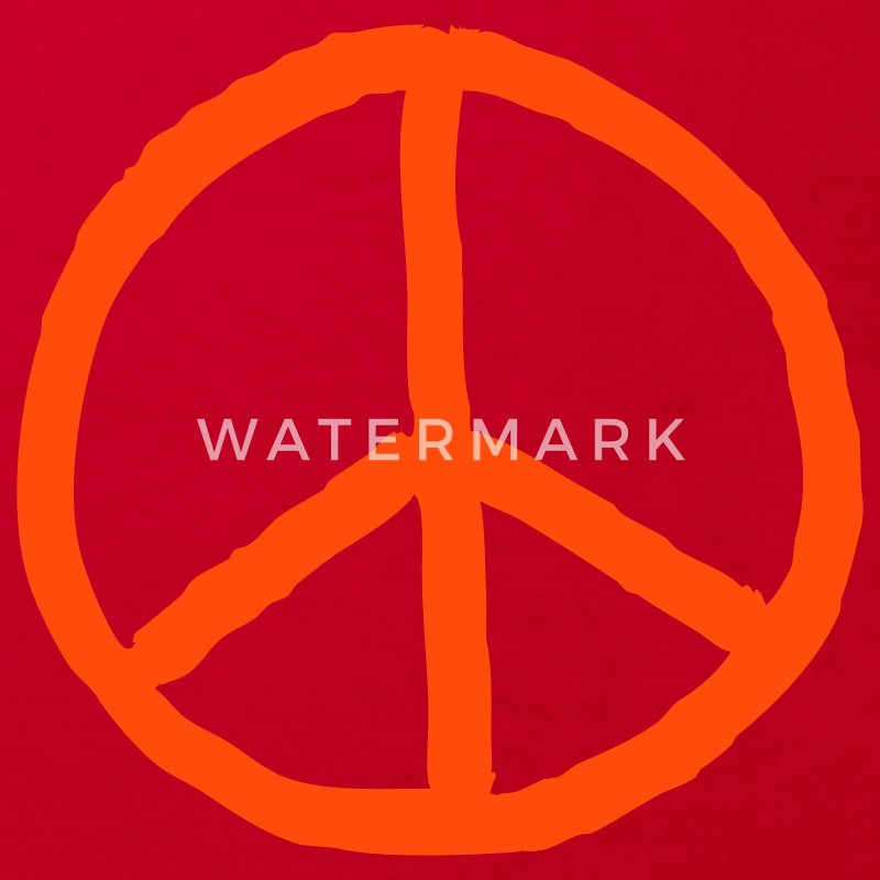 Orange peace mark - Ekologisk T-shirt barn