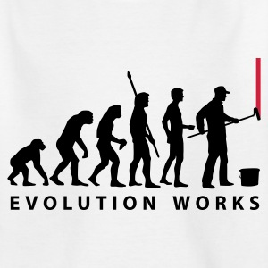 White evolution_maler_a2_2c Kids' Shirts - Teenage T-shirt