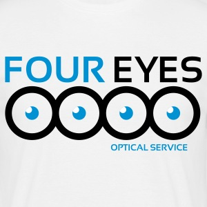 Four eyes optical service - T-shirt herr