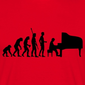 Red evolution_pianist Men's T-Shirts - Men's T-Shirt