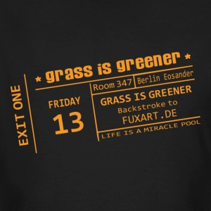 Schwarz ticket: grass is greener Männer - Männer Bio-T-Shirt