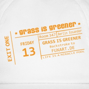 Weiß/weiß ticket: grass is greener Caps & Mützen - Baseballkappe