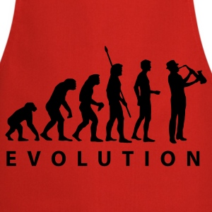 Red evolution_saxophon  Aprons - Cooking Apron