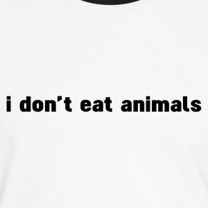 Blanc/noir i don't eat animals T-shirts - T-shirt contraste Homme
