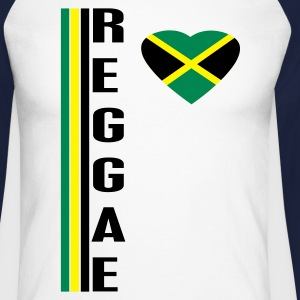 Sable/charbon reggae T-shirts manches longues - T-shirt baseball manches longues Homme
