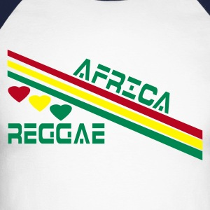 Sable/charbon africa reggae T-shirts manches longues - T-shirt baseball manches longues Homme