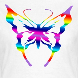 White single multicoloured butterfly Women's T-Shirts - Women's T-Shirt