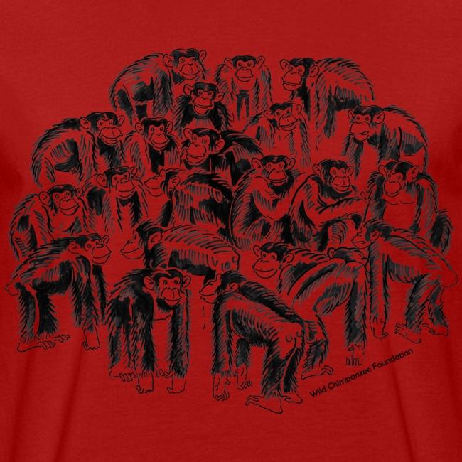 Chimpanzee Group Earth Positive Shirt