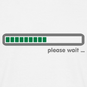 Weiß loading ... please wait (2c) T-Shirts - Männer T-Shirt