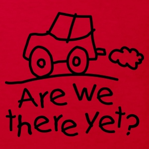 Rood Are we there yet? Kinder shirts - Kinderen Bio-T-shirt