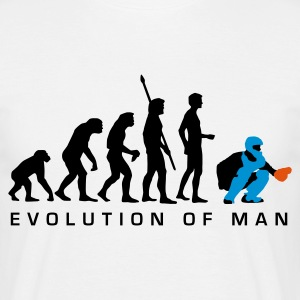 evolution_baseball_catcher_b_3c T-shirts - Mannen T-shirt