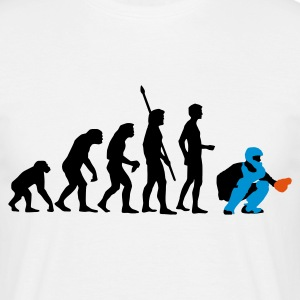 evolution_baseball_catcher_3c T-shirts - Mannen T-shirt