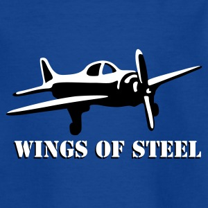 wings_of_steel_2c Camisetas - Camiseta adolescente