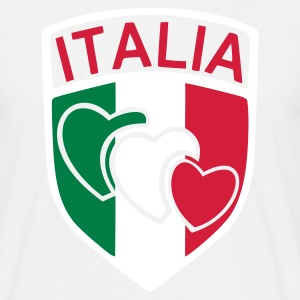 White scudetto_italia2 Men's T-Shirts - Men's T-Shirt