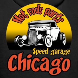 Noir speed garage chicago Sweatshirts - Sweat-shirt à capuche Premium pour hommes