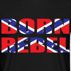 Black born rebel Men's T-Shirts - Men's T-Shirt