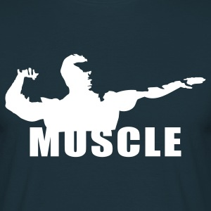 Marineblå bodybuilding T-shirts - Herre-T-shirt